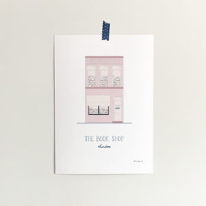 custom home portrait of a book shop building