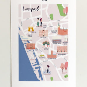 custom map illustration of the city of Liverpool