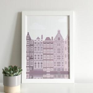 Amsterdam illustration print