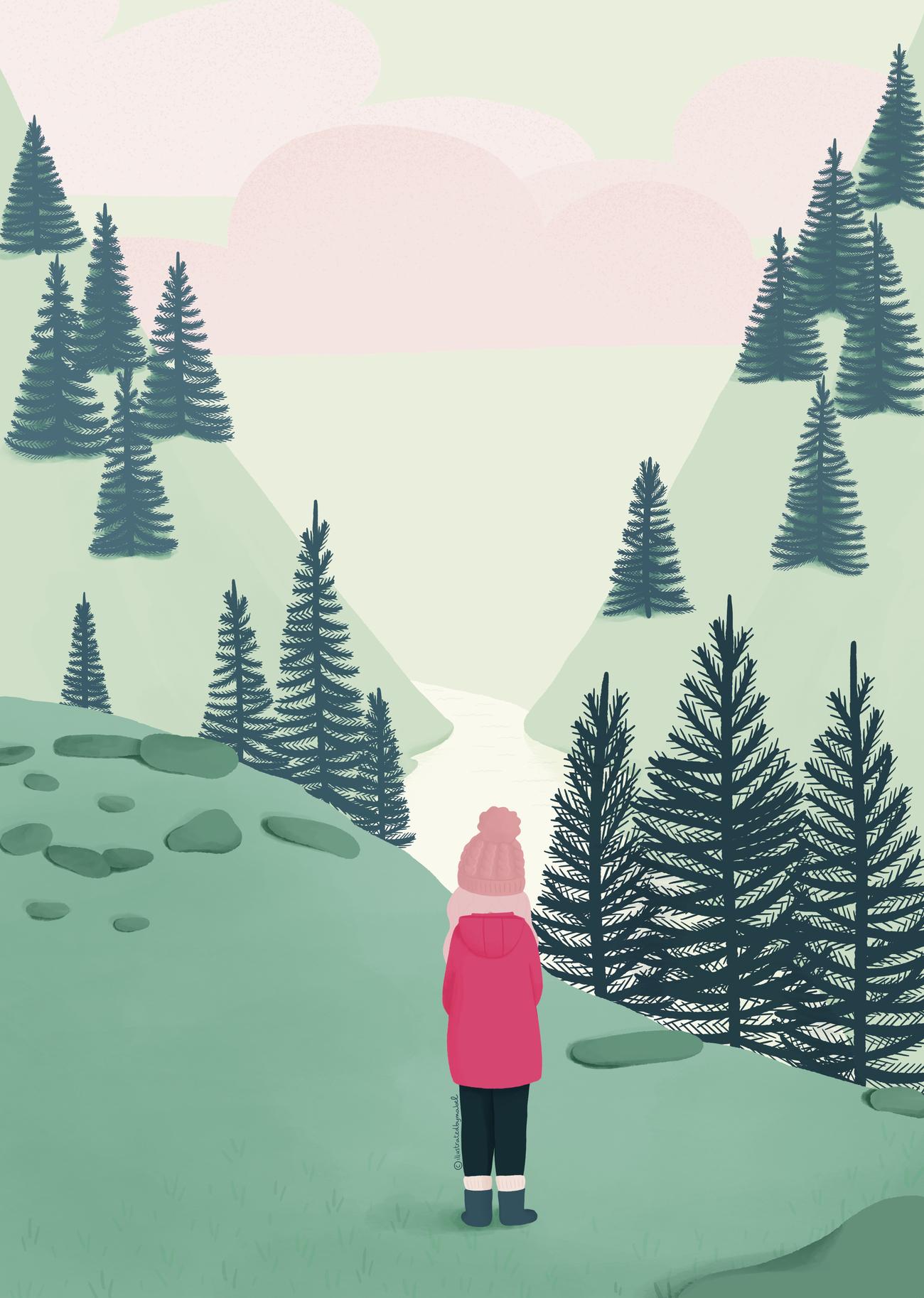 illustration of scottish landscape