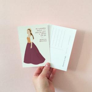 Women in history postcards - Artemisia Gentileschi