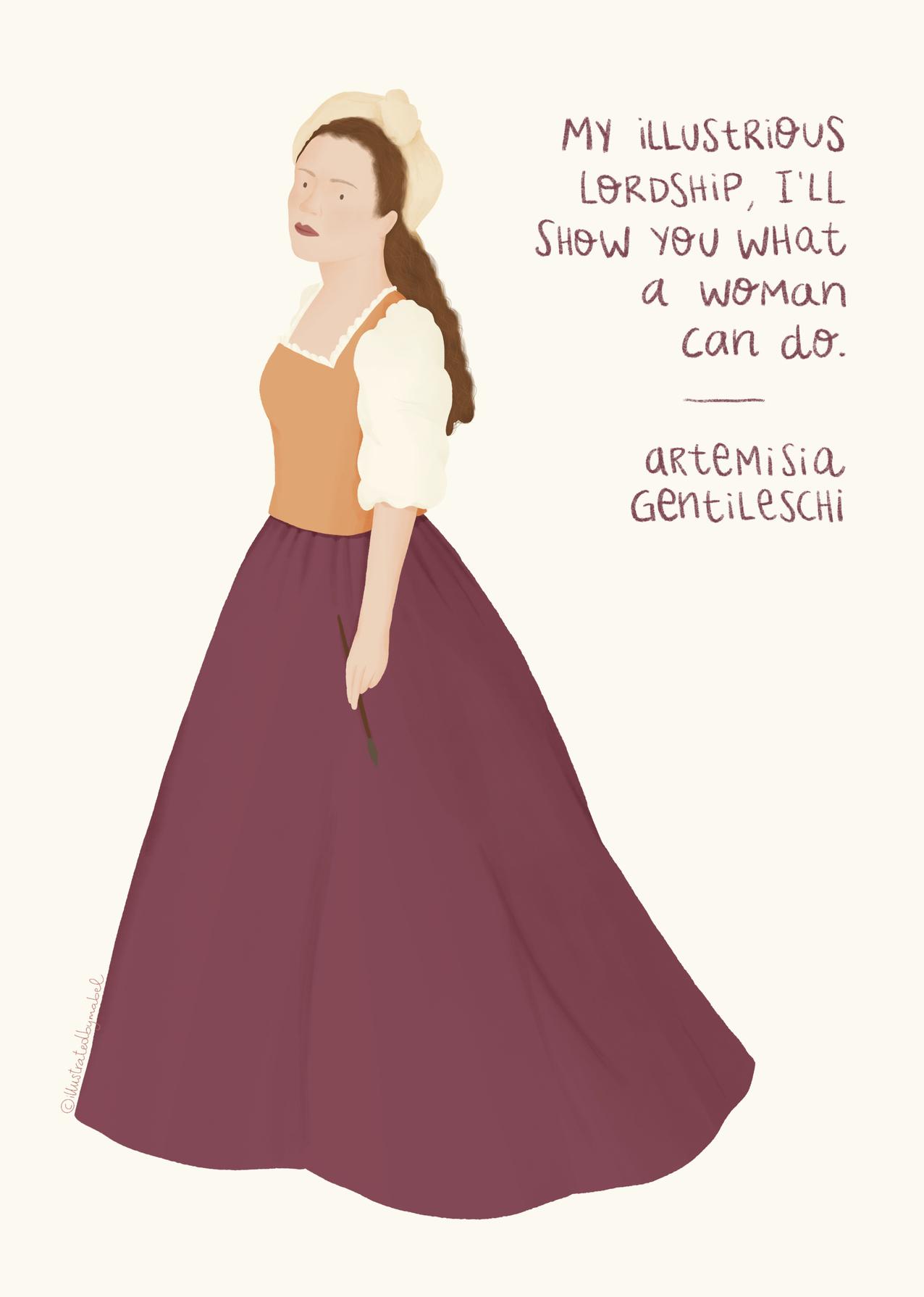 Artemisia Gentileschi illustration