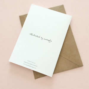 greeting card back