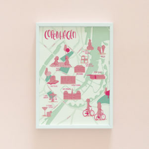 Copenhagen illustrated map print