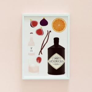 Gin illustration print