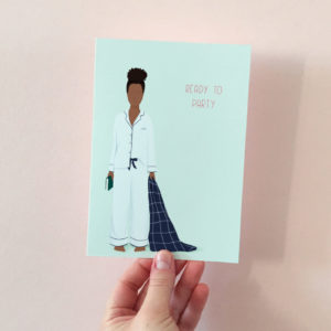 Introvert birthday card