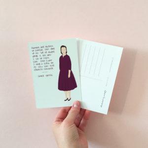 feminist postcard - Grace Hopper