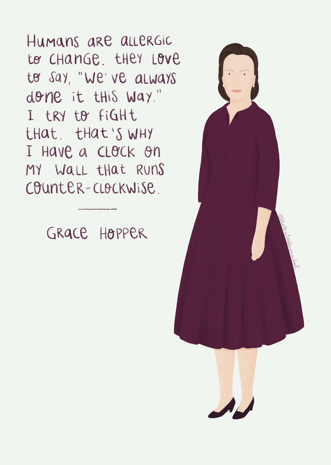 Grace Hopper illustration