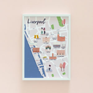 Liverpool illustrated map print