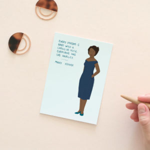 Women in history postcards - Mary Kenner