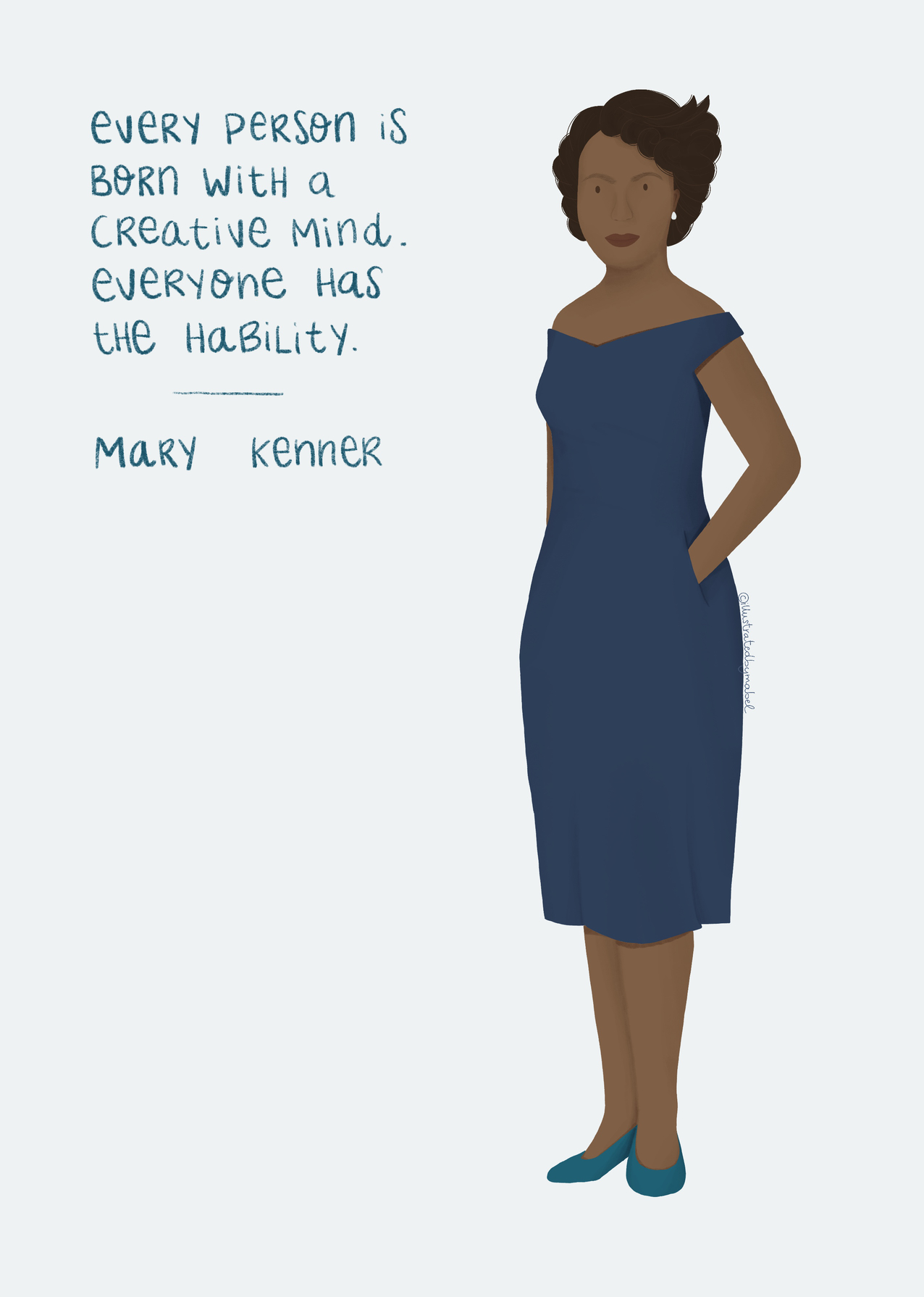 women illustrated portraits - Mary Kenner