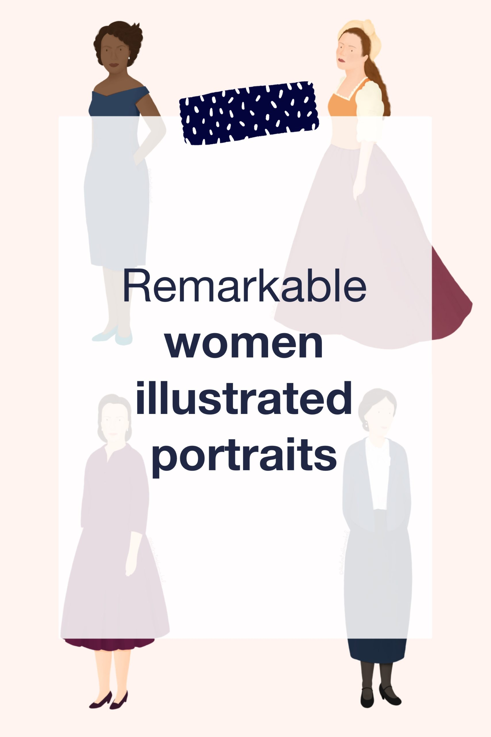 Remarkable women illustrated portraits_Pin