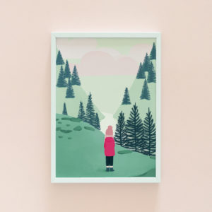 Scotland illustration print
