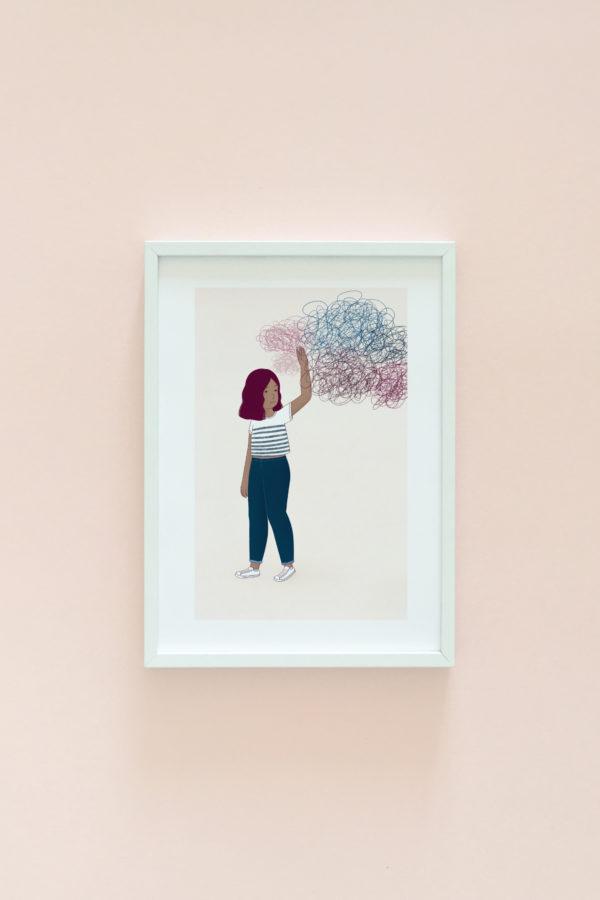 Woman illustration print