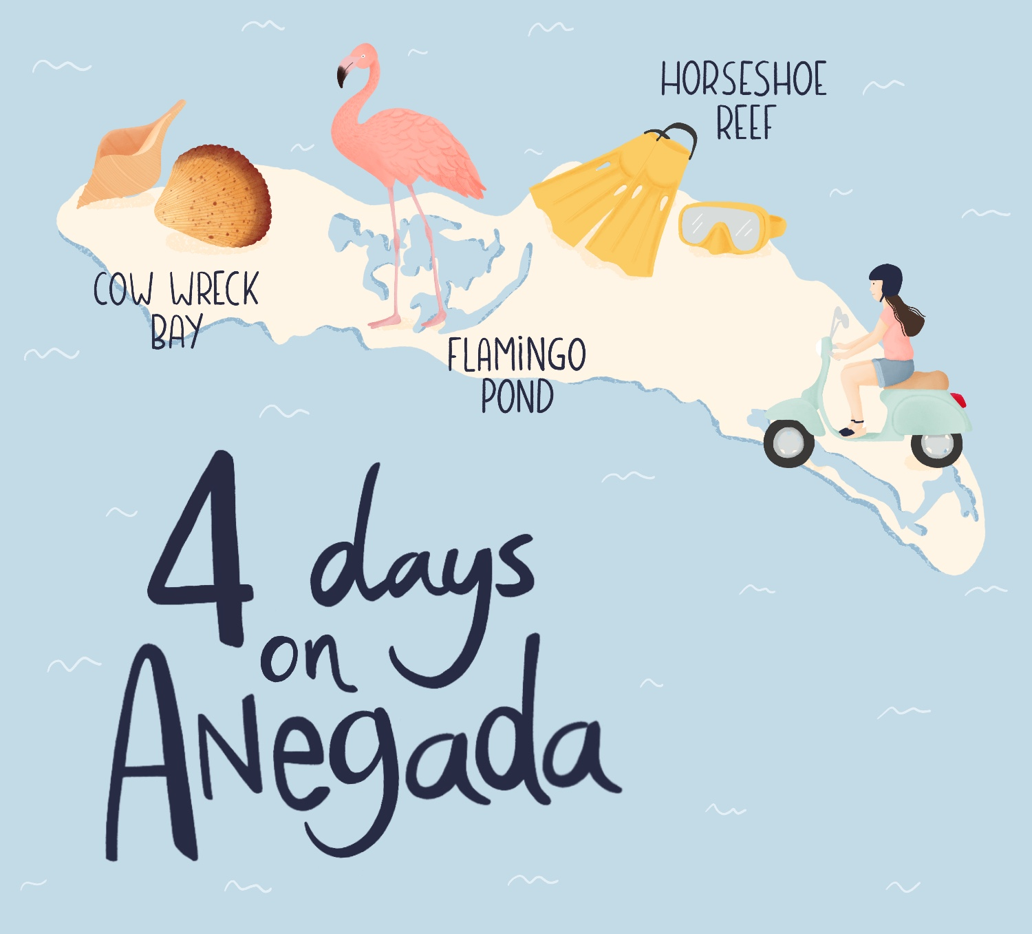 islands illustrated maps - Anegada