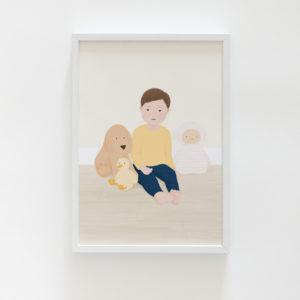 Custom family portrait illustration, couple portrait illustration