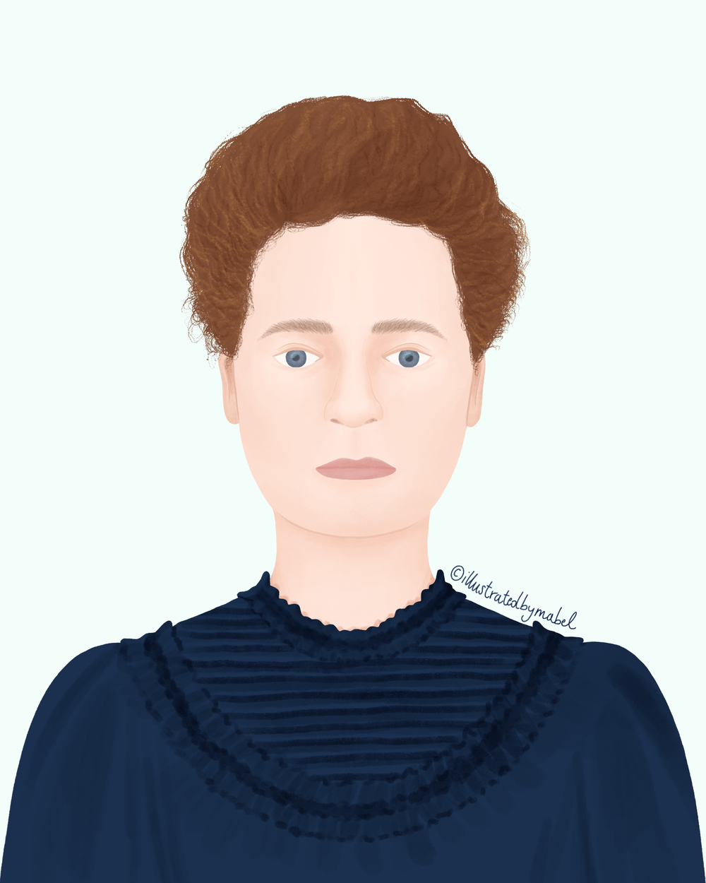 marie curie illustration