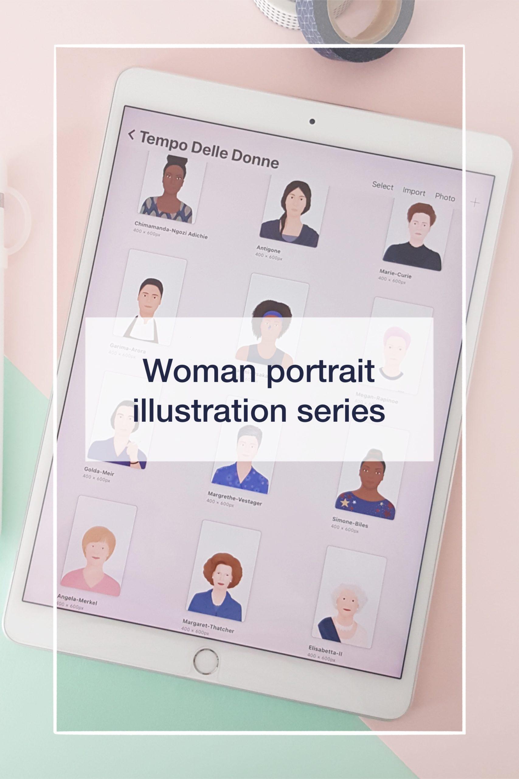 Woman portrait illustration