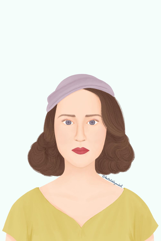Woman portrait illustration Mrs Maisel